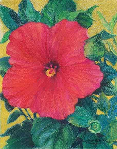 Pastel Flower Painting